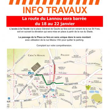 Travaux rue du Lannou